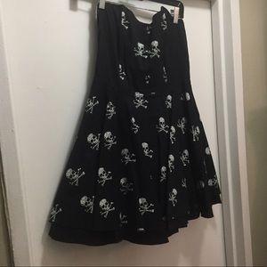 Rock steady corset style skull dress